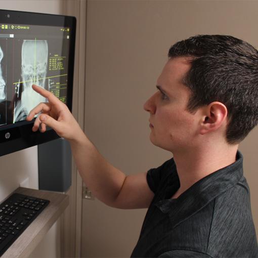 Chiropractor Williamsburg VA Brandon Babin Reading X-Rays